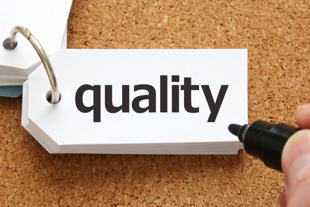 品質を表す写真